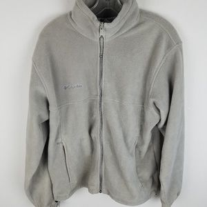 Columbia Cream Fleece Jacket Zip Up Medium